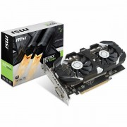 MSI Video Card GeForce GTX 1050 Ti OC GDDR5 4GB/128bit, 1341MHz/7008MHz, PCI-E 3.0 x16, DP, HDMI, DVI-D, Sleeve 2X Fan Cooler Double Slot, Retail GTX_1050_TI_4GT_OC