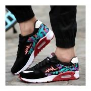 Zapatos Hombres Casuales Calzado Deportivo Respirable Corrientes De Aire Camuflaje - Rojo