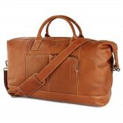 Lucleon Oxford Classic Hellbraune Duffle Bag Reisetasche