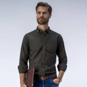Tailor Store Olivgrön oxfordskjorta
