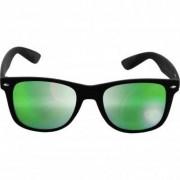 Wayfarer solglasögon spegelglas svarta bågar (Svart/Lila)