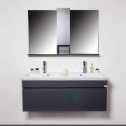 Basco Bath Ensemble meubles salle de bains Gris 3 pièces 120 cm - Grayed