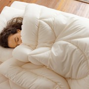 あったか洗える清潔寝具 お得な2枚合わせ掛布団+敷きパッド+枕(ベッドセット) シングル3点セット