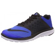 Nike Men's Fs Lite Run 3 Racer Blue, Black and White Running Shoes -7 UK/India (41 EU)(8 US)