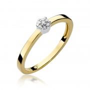 Biżuteria SAXO 14K Pierścionek z brylantami 0,04ct W-100 Złoty GRATIS WYSYŁKA DHL GRATIS ZWROT DO 365 DNI!! 100% ORYGINAŁY!!