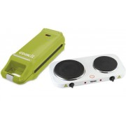 Plita electrica Tristar KP-6245 (Alb) + Cuptor de bucatarie Cook It 2879 (Verde)
