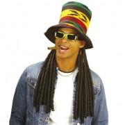 Merkloos Jamaica hoed met dreadlocks