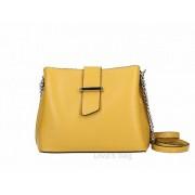 Mustár bőrtáska lánccal díszített pánttal rendelhető színekben