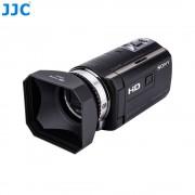 JJC 46mm Camcorder DV Schroef Kap Video Camera Zonnekap Met Lensdop en Keeper voor Canon Sony Panasonic JVC