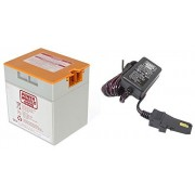 Power Wheels Orange 12V Power Wheels Battery 00801-1661 + 12 Volt Charger w/ Probe 00801-1778