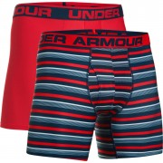 Under Armour Men's 2 Pack Original 6 Inch Boxerjock - Red - M - Red