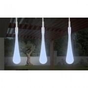 Pure Garden 30 Bulb Tear Drop LED Solar String Lights (Set of 2) Cool White