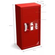 Caixa metal abrigo extintor 6 Kg S.I. 600x300x200
