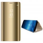 Samsung Galaxy S9 Luxury Mirror View Flip Case - Gold