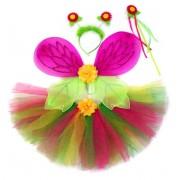 Костюм Страна эльфов, роз., крылья 47х35 см, юбка 25 см, ободок, палочка