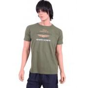 Johnny Brasco Стильная мужская футболка из высококачественного хлопка зеленого цвета с принтом Johnny Brasco 456023