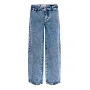 ONLY Konlisa Wide Acid Cropped Jeans Kvinna Blå