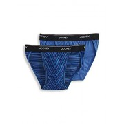 Jockey Elance Bikini para Hombre (2 Unidades), Blue Birthday Stripe/Forget Me Not, Small