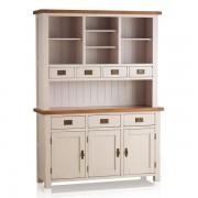 Oak Furnitureland Rustic Solid Oak & Painted Dressers - Large Dresser - Kemble Range - Oak Furnitureland