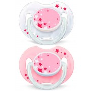 Philips Chupetes Nocturnos Rosas Philips Avent 2 Uds 0-6m+