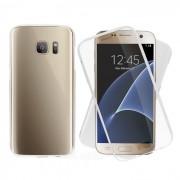 caso de 360 grados a prueba de golpes cubierta protectora de TPU para Samsung S7