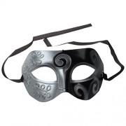 Bighub SODIAL(R) Mens Adult Masquerade Greek Roman Facial Mask for Fancy Dress Masked Ball Silver