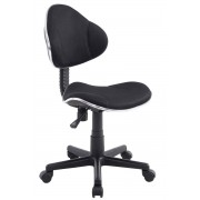 CLP Sedia da ufficio Bastian, nero , nero, altezza seduta