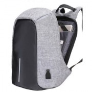 Waterproof Anti Theft and USB Charging Casual Backpack Laptop Bag for 14 Laptops Grey Black Color