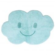 Miliboo Kinderteppich aus Baumwolle Blau 75x115cm NIMBUS