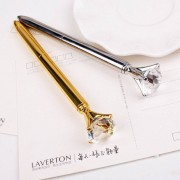 Real Metal big Diamond Ball-Point Pen High-Quality Fashion Business Pen promotion school stationery Gift crystal pen
