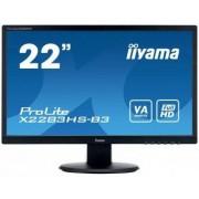 "IIYAMA ProLite X2283HS-B3 - Monitor LED - 22"" (21.5"" visível) - 1920 x 1080 Full HD (1080p) - VA - 250 cd/m² - 3000:1 - 4 ms -"