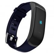 TB01 Smart Bracelet + Bluetooth Earphone Heart Rate Monitor Fitness Tracker Wristband - Dark Blue