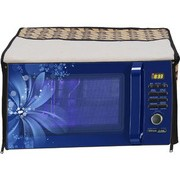 Glassiano Abstract Brown Printed Microwave Oven Cover for IFB 30 Litre Convection Microwave Oven 30SC4 Metallic Silver