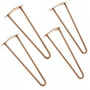 [en.casa]® Stylové stolové nohy 2 – sada noh (4 kusová) - 45 cm - bronzové