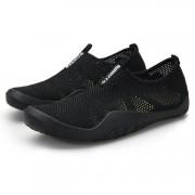Casual lichtgewicht ademend vliegen geweven hardloopschoenen voor mannen (kleur: zwart maat: 43)