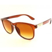 Eyesave Oval, Cat-eye Sunglasses(Brown)