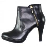 Botine piele naturala dama elegante - negru, s.Oliver - 5-25348-23-Black