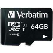 Verbatim Premium MicroSDXC Memory Card - 64GB