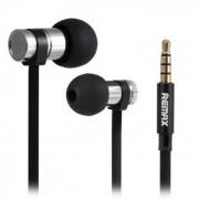 REMAX RM-565i 3.5mm clavija de los auriculares bajo en la oreja - negro