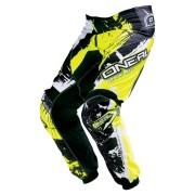Oneal O´Neal Element Shocker Pantalones de Motocross Negro Amarillo 30