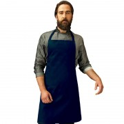 Merkloos Navy barbecue keukenschort voor volwassenen - Action products