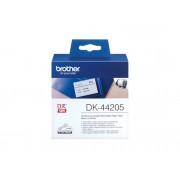 Brother Consumible Original Brother DK44205 Cinta continua de papel térmico removible (blanca). Ancho: 62 mm. Longitud: 30,48 m para impresoras etiquetas QL