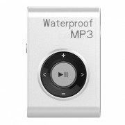 KELIMA deporte impermeable grapa-on Lossless Reproductor de MP3 con auriculares-Blanco (4GB)