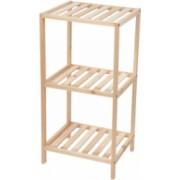 Mobilier baie din lemn natural compartimentat 3 nivele dimensiuni 34x33 cm inaltime 78 cm