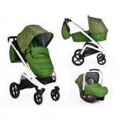 Cangaroo - Комбинирана детска количка S-line 3 в 1 зелена