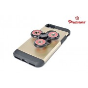iPhone 7 / 8 Mobile Back Cover Fidget Spinner 608 Four Bearing Premium Quality ABS Material Hand Spinner Tri-Spinner Ultra Speed Toy - Black + Red Wing Bearings