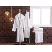 Set matrimonial 2 halate baie + prosoape Aida - Cream, White