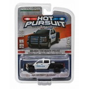 2015 Chevrolet Silverado / Manhattan Beach Police * Hot Pursuit Series 18 * 2016 Greenlight Collectibles Limited Edition 1:64 Scale Die Cast Vehicle