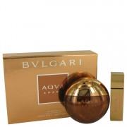 Bvlgari Aqua Amara Eau De Toilette Spray 3.4 oz / 100.55 mL + Mini EDT Spray 0.5 oz / 14.79 mL Gift Set Men's Fragrances 539841