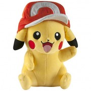 Pokemon Plush Figure Pikachu with Ash Cap